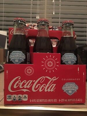 Coca-Cola Bottle 2017 UNC Tar Heels National Champs Commemorative Bottle