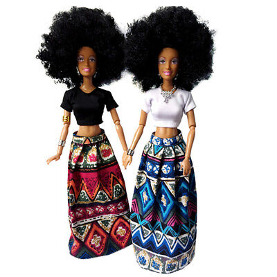 Baby Kids Movable Joint African Doll Toy Black Doll Best Gift Toy