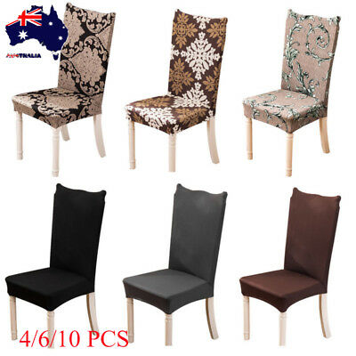 AU 4/6/10X Stretch Dining Chair Cover Washable Removable Slipcover Dinning Cover