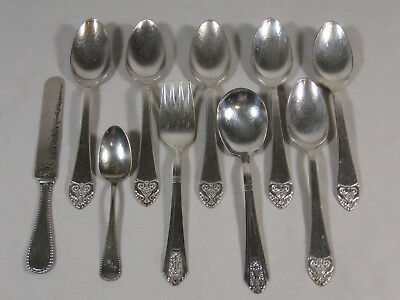 Silver Plate International Silver Mixed lot of 11 Pcs