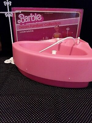 RARE BARBIE DREAM FURNITURE COLLECTION LUXURY BATHTUB IN BOX 1970's