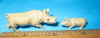 Hagen Renaker Rhinoceros Rhino mama and baby A-829 and A-830 NR Free shipping