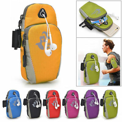 Universal Sport Running Riding Arm band Case Holder Zipper Bag For Cell Phone