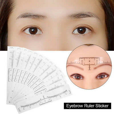 10/50/100pcs Disposable Eyebrow Ruler Stickers Tattoo Microblading Measure Tool