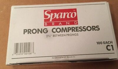 Compressors for File And Paper Fastener Prong Bases, 2-3/4 Inch Center, 100/Box