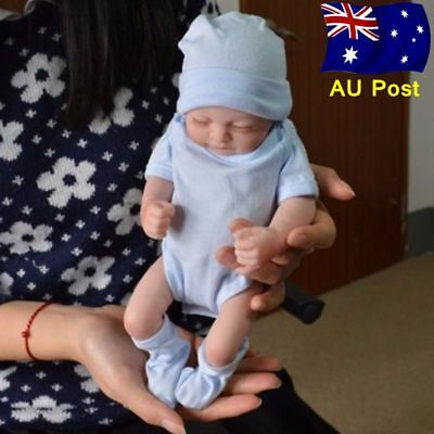 "Handmade Reborn 11"" Real Looking Newborn Baby Boy Vinyl Silicone Doll AU Stock"