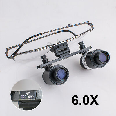 6.0x 6x R(300-500mm) Dental Loupes Medical Surgical Binocular Titanium Frame