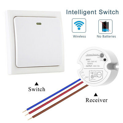 Self Power Wireless Lights Switch Kit Remote Control Lighting Lamp Controller