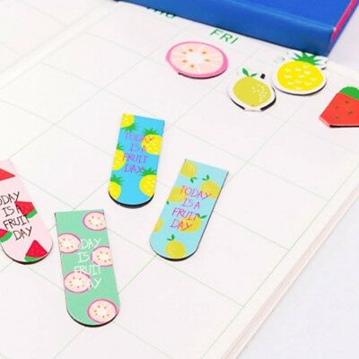 Fruit Ice Cream Series Colorful Magnetic Bookmarks Mini Book Clip Pop