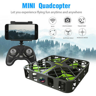 2.4G Pocket Elfie Selfie Mini Grid Drone Headless WIFI FPV Camera RC Quadcopter