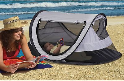 KidCo P4012 Lightweight PeaPod Plus Infant Travel Bed Midnight UV Protection