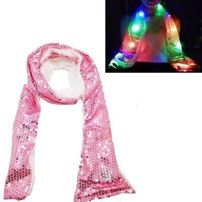 Luwint Colorful LED Flashing Scarf - Lights Up Rave Clothing Accessories Toys