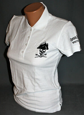 Captain Morgan Rum Damen Woman Polo Shirt Hemd weiß schwarz Gr. L NEU OVP