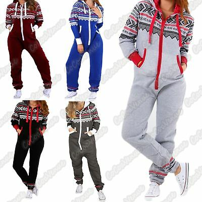 New Kids Unisex Hooded Aztec Print All In One Fleece Zip Up Jumpsuit Playsuit