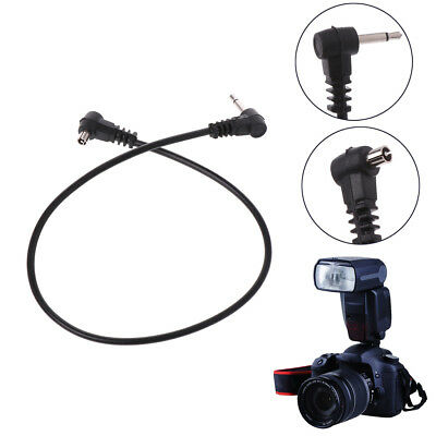 """PC Sync Cable 30cm 12'' 3.5mm 1/8"""" Cord Plug Jack for Male Flash Trigger Camera"""