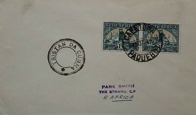 South Africa 1937 Cape Town Paquebot Cover With Tristan Da Cunha Type 5 Postmark