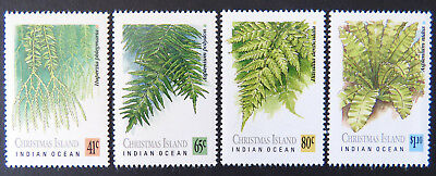 1989 Christmas Island Stamps - Ferns of Christmas Island - Set of 4 MNH