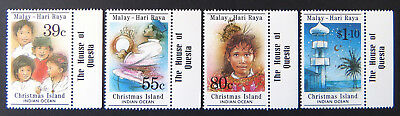 1989 Christmas Island Stamps - Malay Hari Raya - Set of 4 - Tabs MNH