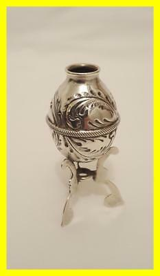 Chinese Hallmarked Export Silver Toothpick Or Match Holder Circa 1900-1920,no 1