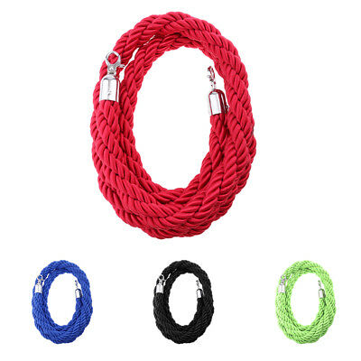 1pc Crowd Control Stanchion Queue Barrier Post Rope 2m, 3m Twisted Rope