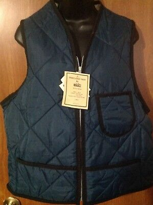 NWT Insulated Navy Vest by EWC v60NB size LG DuPont Hollofil Zip up