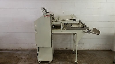 Moline 100 Commercial Double Pass Thru Sheeter Dough Roller Extra Plates Tested
