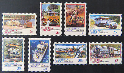 1990 Christmas Island Stamps - Transport Through the Ages - Pt I Set of 8 MNH