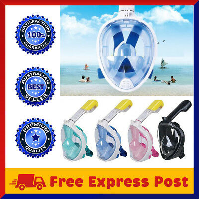 Full Face Snorkel Mask Scuba Diving Snorkelling Goggles Breather Pipe For GoPro