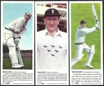 Carrs Biscuits-Full Set- Cricket Ers 1967 (G20 Cards) - Exc