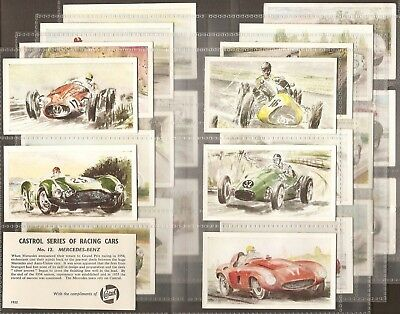 Castrol Oil-Full Set- Racing Cars (X24 Cards) - Exc