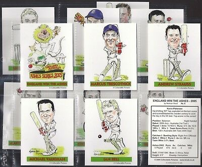 Collectable Pictures-Full Set- Eng V Aus Ashes Series 2005 - Cricket (L13 Cards)