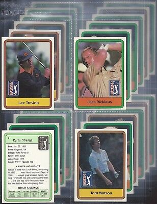 Donruss-Full Set- 1980 Pga Tour - Golf - Inc Jack Nicklaus (X66 Cards) - Exc+++