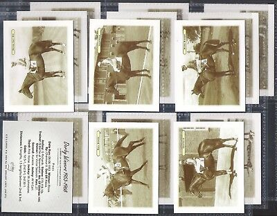 Gds-Full Set- Derby Winners 1953-1968 - Horse Racing (L16 Cards) - Exc++