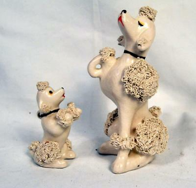 Vintage Snooty Porcelain Spaghetti Poodle and Pup