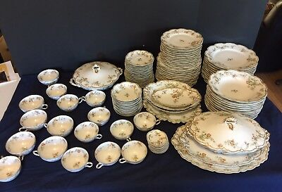 Vintage Haviland Limoges France China Dinnerware Set 99 Pieces Beautiful