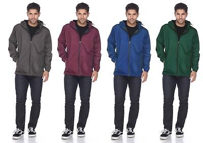 Men's Packable Waterproof Windbreaker Outdoor Breathable Raincoat Jacket Hoodie