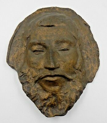Vintage Cast Resin Paul Gauguin Bronze Wall Mount Or Standing Death Mask