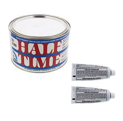 USC 21000 HALF TIME One-Step Filler / Glazing Putty with 2 Tubes of Hardener