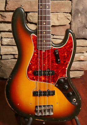 1966 Fender Jazz Bass, Sunburst  (FEB00323)