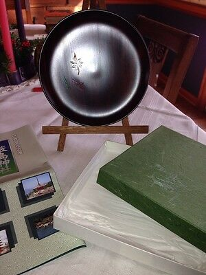 Chinese Wood Plate With Original Box