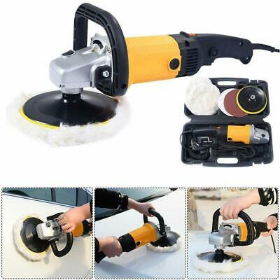 "7"" 1600W Electric 6 Variable Speed Car Polisher Buffer Waxer Sander Detail Boat"