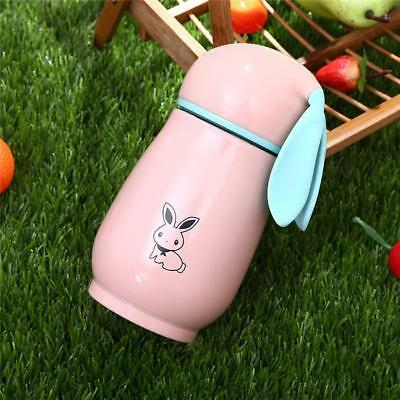 Cute Rabbit Travel Thermos Vacuum Drink Cup Mug Thermal Flask Water Bottle NEW S