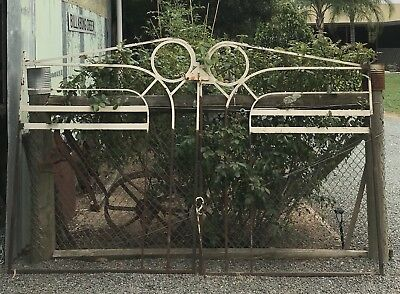 Vintage Pair Art Deco Wrought Iron Gates