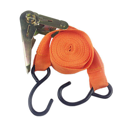 Strong Tie Down Strap Ratchet Belt Luggage Bag Cargo Lashing Metal Buckle