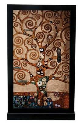 "Gustav Klimt ""TREE OF LIFE"" Stained Art Glass Window Panel Hanging Display"