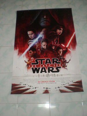 "STAR WARS THE LAST JEDI 2017 Original Final Ver C DS 27x40"" US Movie  Poster"