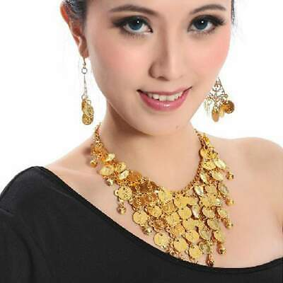 Belly Dance Jewellery Costume Set Coin Necklace & 2 Earrings Jewelry Dancing