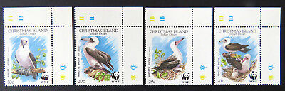 1990 Christmas Island Stamps - Abbott's Booby - Cnr Set of 4 with Tabs MNH