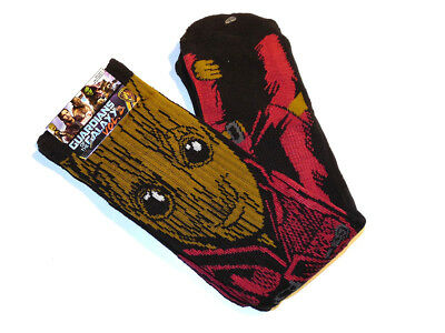 Loot Crate Marvel Groot Guardians Of The Galaxy Crew Socks Mens Size 8-12 NEW