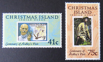 1990 Christmas Island Stamps - Centenary of Henry Ridley's Visit - Set of 2 MNH